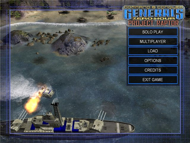 Генералы: Час Расплаты Проект Раптор / Command and Conquer: Generals: Zero Hour