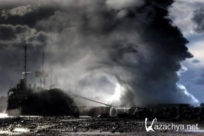 Шторм в Севастополе. Фото
